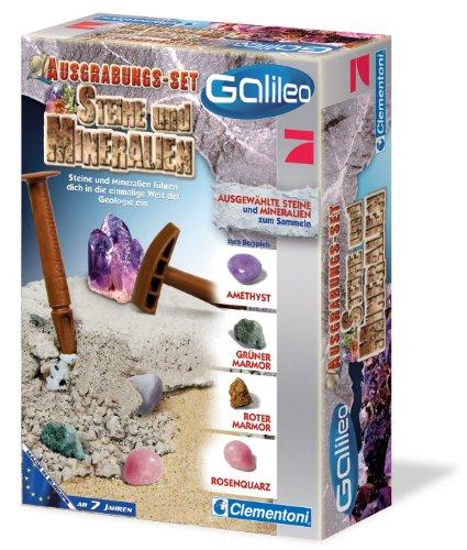 Preisvergleich Produktbild Clementoni 69940.7 - Galileo - Ausgrabungs-Set - Steine und Mineralien