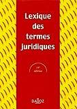 Lexique des termes juridiques - Dalloz - 26/06/2003