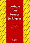 Lexique des termes juridiques