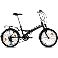 "KCP 20"" FOLDING BIKE ALLOY CITY BIKE FOLDO 6 speed SHIMANO Unisex black (s) - (20 inch)"