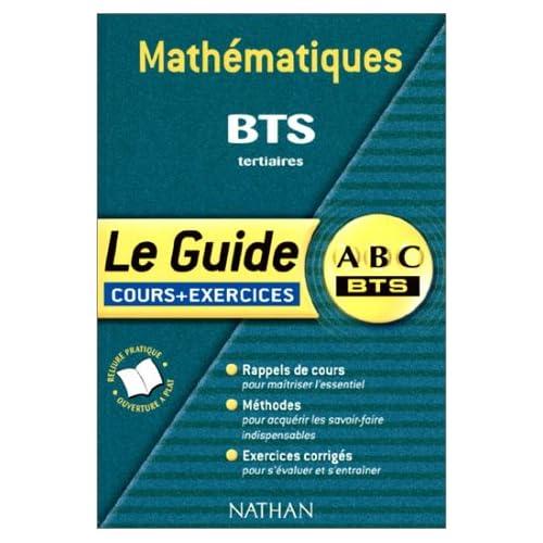 Mathématiques BTS tertiaires : Cours et Exercices