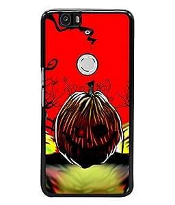 Fuson Designer Back Case Cover for Huawei Nexus 6P :: Huawei Google Nexus 6P (roar teeth toung eyes beauty )