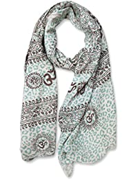 Woca Designs Mantra Handblock Print 100% Rayon And Self Designed Super Soft & Stylish Scarf/Scarves, Shawl And...