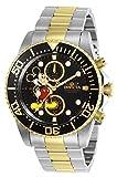 Invicta 27389 Disney Limited Edition Mickey Mouse Reloj para Hombre acero inoxidable Cuarzo Esfera negro