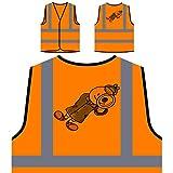 Los niños actúan como detective espía nuevo regalo Chaqueta de seguridad naranja personalizado de alta visibilidad f589vo