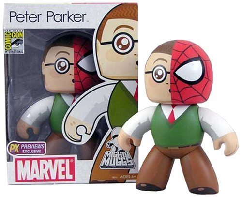 Marvel Mighty Muggs - Peter Parker / Spider-Man - 2008 SDCC Exclusive