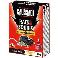 Caussade CARSBL180 Rats & Souris Efficacité Radicale - 6 Blocs pour Garage et Cave | Lieux Humides