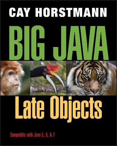 Big Java: Late Objects par Cay S. Horstmann