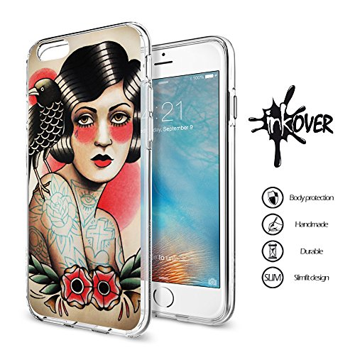 iPhone 7 (5.5) - INKOVER - Custodia Cover Protettiva Soft Case Guscio Bumper Trasparente Sottile Slim Fit Tpu Gel Morbida INKOVER Design OLD SCHOOL BARBER SHOP Vintage Tatuaggio Tattoo per APPLE iPho BARBER SHOP 4