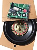 BOXED ROULETTE SET - LARGE WHEEL, FELT, RAKE,BALLS, MARKER + 50 FULL WIDTH STARTER CHIPS
