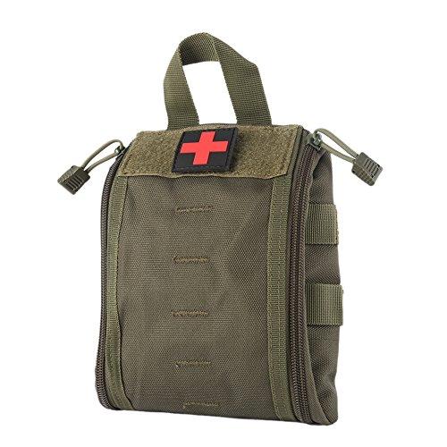 Wynex Borse di Primo Soccorso EMT, tattiche IFAK Medical Molle Pouch Militare Utility Med Emergenza edc Pouch Kit di Sopravvivenza Outdoor Tactical Cintura Pack 1000 Nylon