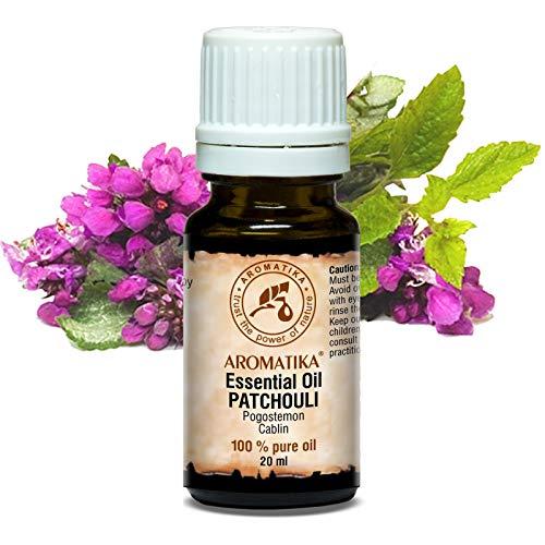 Patchouli Ätherisches Öl 20ml - Pogostemon Cablin - Indonesia - 100% Naturreines Patchouliöl - Guten für Aromatherapie - Entspannung - Aroma Diffuser - Duftlampe - von Aromatika -