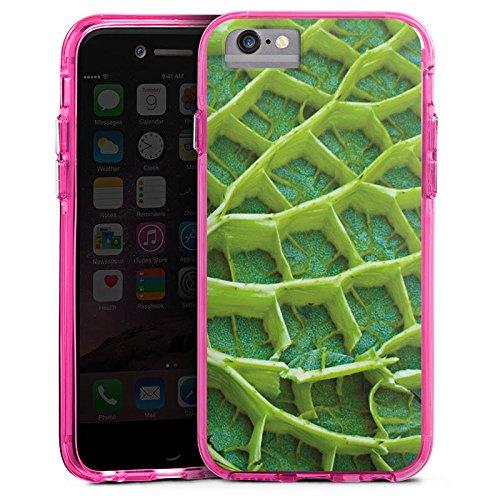 Apple iPhone 6 Plus Bumper Hülle Bumper Case Glitzer Hülle Seerosenblatt Pflanze Plant Bumper Case transparent pink