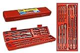 Vetrineinrete® Punte per martello trapano demolitore 12 pezzi scalpelli perforatrici attacco sds plus per muro varie misure A22