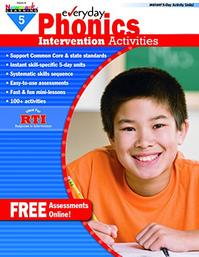 Newmark Learning Everyday Intervention Activities for Phonics Grade 5