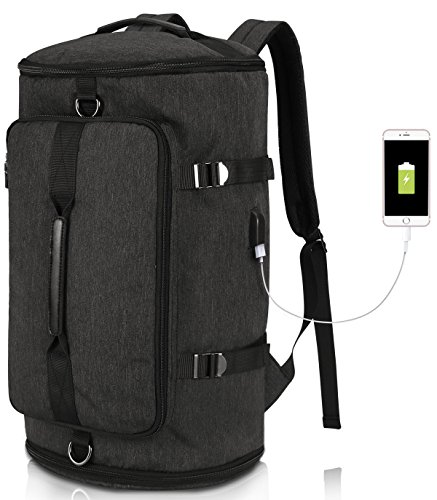 Camping-rucksack (Camping Rucksack Groß Reisen Tasche Damen Herren, Wasserdichte Laptop Rucksack 15,6 Zoll Notebook, Lässiger Daypacks für Wandern Reisen Trekking Outdoor Rucksack Schwarz)