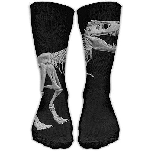 Casual Erwachsene Fußball Fußball Sport Strümpfe Dinosaurier Skelett Crew Mädchen Hohe Lange Socken