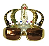 erdbeerclown – Costume – Lunettes de Couronne Elvis King of ROCKN Roll musicien Costume Rap Hip Hop, multicolore