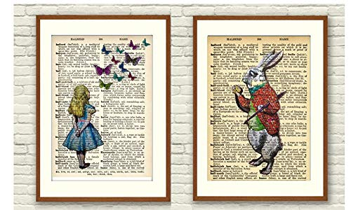 t A4 Alice im Wunderland Wanddeko ohne Rahmen ()