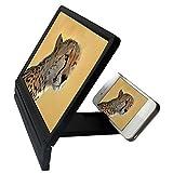 """Agrandisseur d'Écran Loupe 3D Portable Pliage Elargie Verre Amplificateur Vidéo Film HD Support Table Pliable pour Téléphones Écran 2.5"""" - 6.0"""" Noir"""