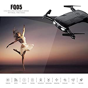 YMXLJJ Drone With Camera Live Video, RC Quadcopter Pocket Drones With 2 Batteries, Easy To Use For Beginners,2.4G 6-Axis Height Maintain Mode Altitude One Key Return 3D Flips And Rolls Toys
