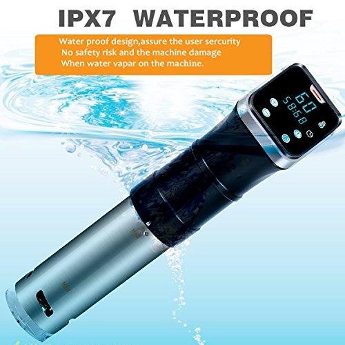 Aobosi Sous Vide Präzisionskochtopf Immersion Zirkulator IPX7 Wasserdichter Immersions-Zirkulator-Schnellkocher mit großer Digital-LED-Anzeige, Edelstahl, 800W starker Betrieb, Schwarz, - 2
