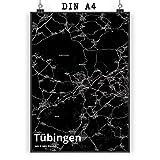 Mr. & Mrs. Panda Poster DIN A4 Stadt Tübingen Stadt Black