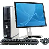 Windows 8 Dell OptiPlex Computer Tower mit19LCD TFT Flachbildschirm, Intel Core 2Duo CPU, 500GB Festplatte, 4GB RAM, DVD, WLAN mit 300MB/s, Tastatur und Maus, Windows 8 mit Echtheitszertifikat, UK-Import