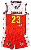 De niño CHICAGO Baloncesto Deporte Camiseta Top Y Shorts Traje Set tallas 3 a 14 Años - Rosso, 4 (3-4 Años), Rojo
