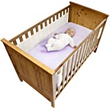 Safe Dreams 2 Sided Cot Wrap with 100% cotton surface (White)