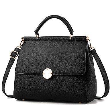 Damenmode Rüschen PU Leder Messenger Umhängetaschen Handtaschen/Klt Light Grey