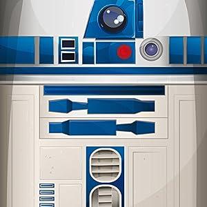 Nintendo DS Case Skin Sticker aus Vinyl-Folie Aufkleber Star Wars Merchandise Fanartikel R2D2