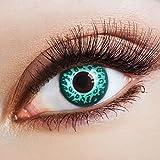 aricona Kontaktlinsen Slinky Leopard - farbige Jahreslinsen in grün ohne Stärke für Karneval & Halloween Kostüme