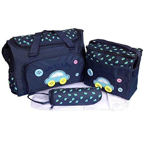 Fafada Kits Bolsa de Mama Para Bebe Biberon Bolso/Bolsa/Bolsillo Maternal Bebé para Carro Carrito Ciberón Colchoneta Comida Pañal de color Turquí