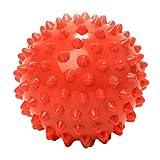Massageball »Nica« (10cm Durchmesser) in vielen Farben zur Selbstmassage von Triggerpunkten. Idealer Lacrosse Ball / Massagerolle zur punktuellen Behandlung von Verspannung & Verhärtungen ähnlich dem Faszientraining (Faszienrolle) : rot