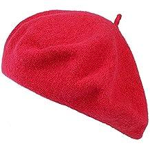 Ogquaton Boina Vintage Clásico Lana Boina francesa Artista Color sólido  Sombrero de lana Moda Gorras calientes a0e4f16eec1