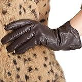 Nappaglo Damen Leather Handschuhe Italian Touchscreen Winter warm Kaschmir Handschuhe
