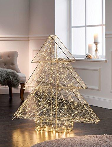 Pureday Weihnachtsdeko - Tannenbaum Modern - Beleuchtet mit 260 LEDs - Metall Kunststoff - Höhe ca. 98 cm