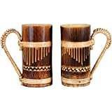 I-Fork BAMBOO DRINKING MUG | 100% NATURAL | TRADITIONAL | HANDICRAFT | DRINKING TEA, COFFEE | SET OF 2