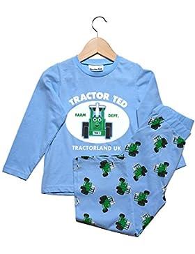 Tractor Ted para niños pijama 100% algodón, luz azul