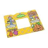 1 x Lego Duplo Wand Deko Papier laminiert Tapete Weiss gelb Kuchen Gemüse Korb Opa Oma Bild Küche Puppenhaus Hintergrund Bild (passt in 11335) 10505 6030746 13586pb04