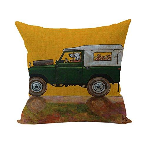 Nunubee Tier Kissenbezug Sofa Dekokissen Haus Dekoration weich Quadrat Sofa Kissen Gelb - Gelbe Quadrat Kissen