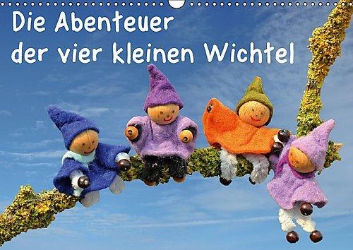 Preisvergleich Produktbild Die Abenteuer der vier kleinen Wichtel (Wandkalender 2017 DIN A3 quer): Vier kleine Wichtel sind das ganze Jahr über unterwegs und erleben einige ... (Monatskalender, 14 Seiten ) (CALVENDO Spass)