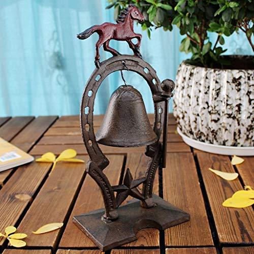 CKH Running Horse Gusseisen Sitz Glocke Eisen Klingel Türklingel Europa und Amerika Retro Dekoration Bar Glocke Home Decoration