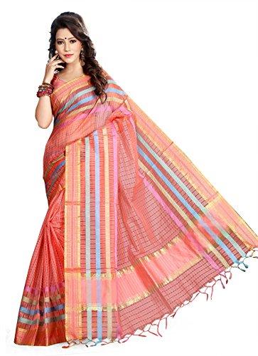 Asavari Organza Saree (Cha16-Dos-Chk-Pch_Peach)