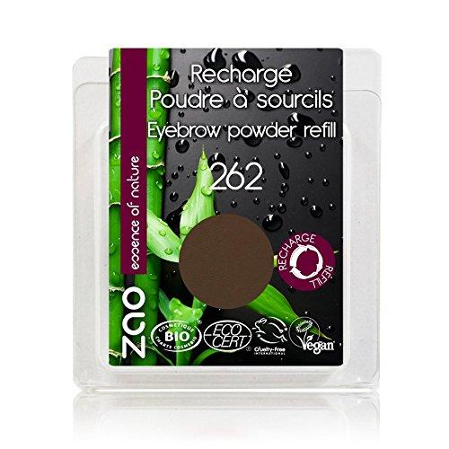 ZAO REFILL Eyebrow Powder 262 braun Nachfüller Augenbrauenpuder (bio, vegan) 111262