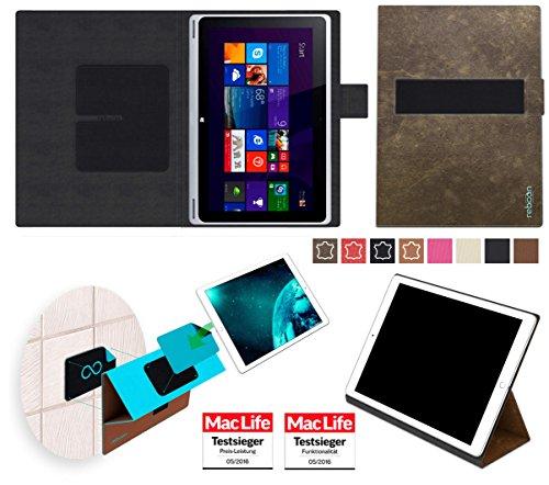 reboon Acer Aspire Switch 10 V Hülle Tasche Cover Case Bumper | Braun Wildleder | Testsieger