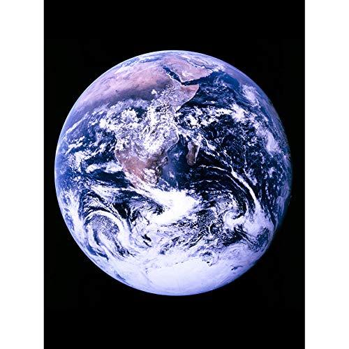 Space NASA Earth Apollo 17 Blue Marble Photograph Art Print Canvas Premium Wall Decor Poster Mural Platz Blau Fotografieren Wand Deko