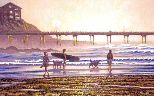 Northwest Art Mall Endless Surf Artwork von David Linton, 28 x 43 cm