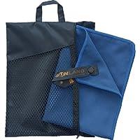 Sunland Asciugamano in Microfibra ultra compatto e molto leggera telo da palestra, sportive, Viaggio o campeggio 40cmx80cm 2 pezzi ardesia blu